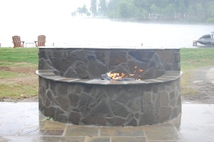 Blue Stone Fire Pit