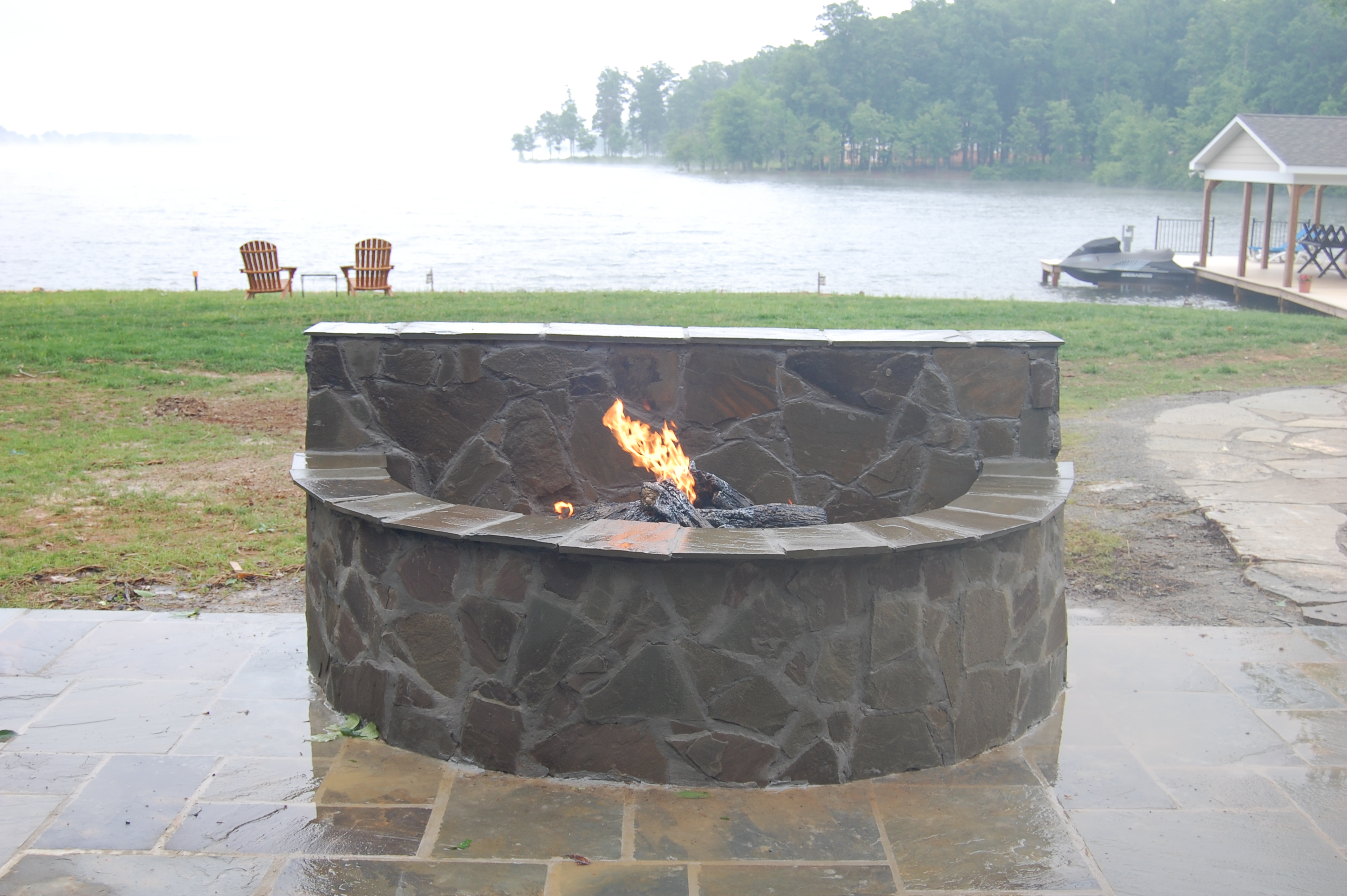 Stone Fire Pit Ask The Landscape Guy