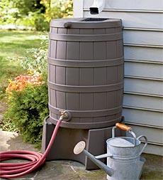 basic rain barrel from plow and hearth - Decorative Rain Barrels
