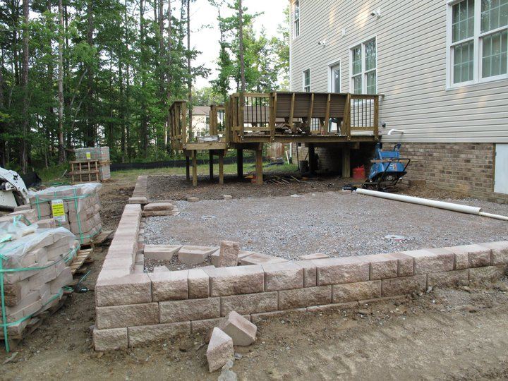 Building A Raised Bed With Pavers