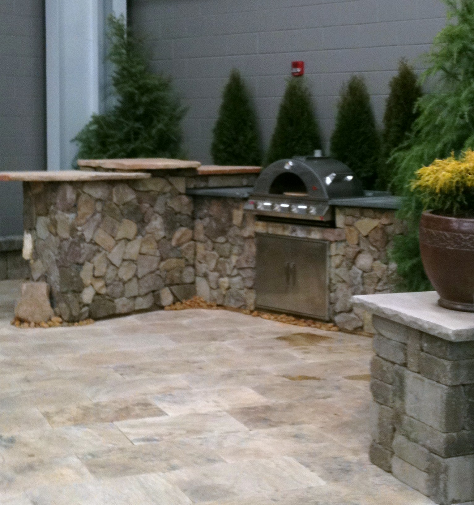 Ask the landscape guy you have questions we have answers for Outdoor stone kitchen designs
